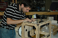 Trent working on the Replicator at LVL1